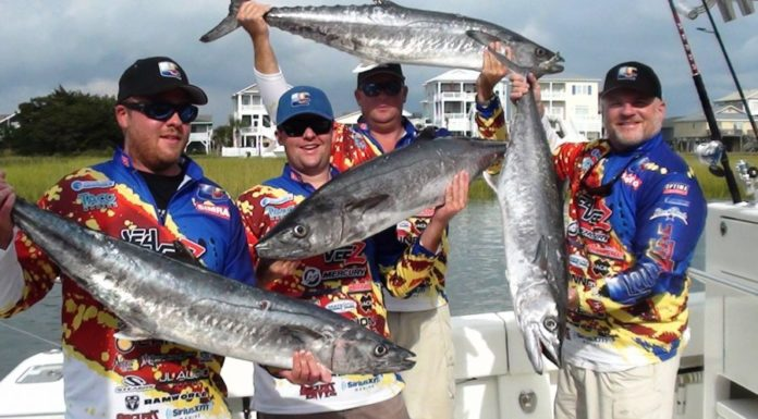 Liquid Fire Fishing Team With Their Catch
