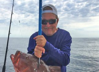 Robert Dean - NC record red grouper - NCDMF