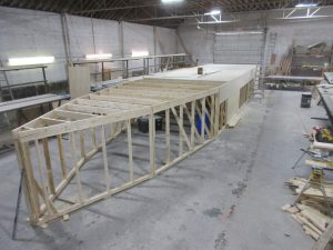 Strongback frame measures out at 55' long, 6' tall and 12' wide