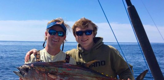 Adam and Tyler, with a nice YELLOW FIN TUNA from last weekend