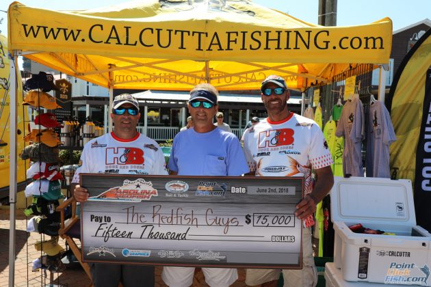 2018 Star Rods Carolina Redfish Elite Winner Dwayne and Lee with Chris Pardue from Star Rods