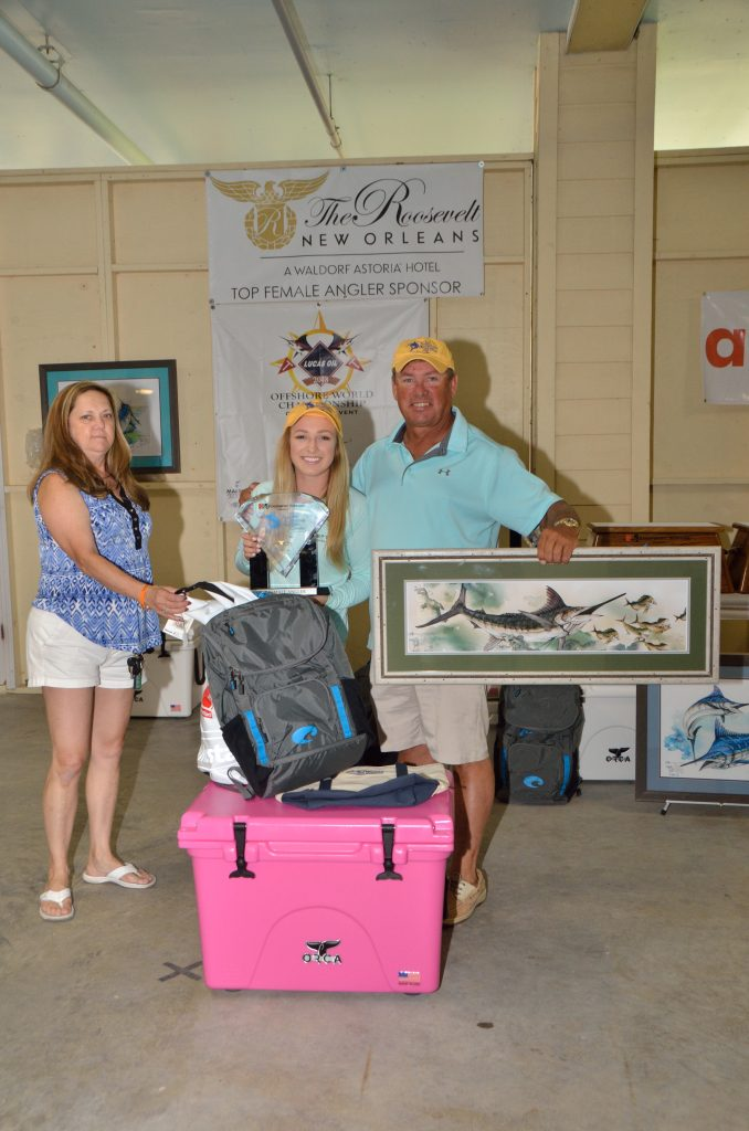 Top Female angler Katie Gonsoulin