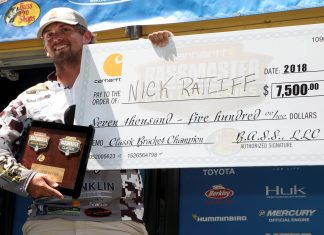 Nick Ratliff of Campbellsville University won the 2018 Carhartt Bassmaster College Series Classic Bracket presented by Bass Pro Shops earning a berth in the 2019 Bassmaster Classic presented by DICK'S Sporting Goods to be held on the Tennessee River out of Knoxville, Tenn. Photo by: Kelly Bostian/B.A.S.S.