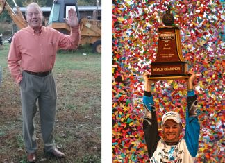 Walt Warren (left) of Edenton, N.C., won the 2018 Fish With Randy Howell Sweepstakes. Warren will get the chance to fish with 2014 Bassmaster Classic champion Randy Howell (right) on Lake Guntersville in October. The value of his prize totals $30,000. Photo by: Photos by Walt Warren and B.A.S.S.