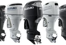 "SUZUKI'S ""RED, WHITE AND YOU CUSTOMER REBATES"" UP TO $800.00 AND SIX YEARS OF PRODUCT PROTECTION ON SELECT NEW SUZUKI 4-STROKE OUTBOARD MOTORS"