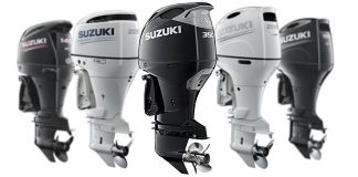 """SUZUKI'S """"RED, WHITE AND YOU CUSTOMER REBATES"""" UP TO $800.00 AND SIX YEARS OF PRODUCT PROTECTION ON SELECT NEW SUZUKI 4-STROKE OUTBOARD MOTORS"""