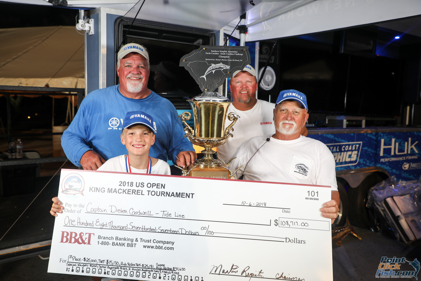 Team Tide Line - 2018 US Open King Mackerel Tournament Winners