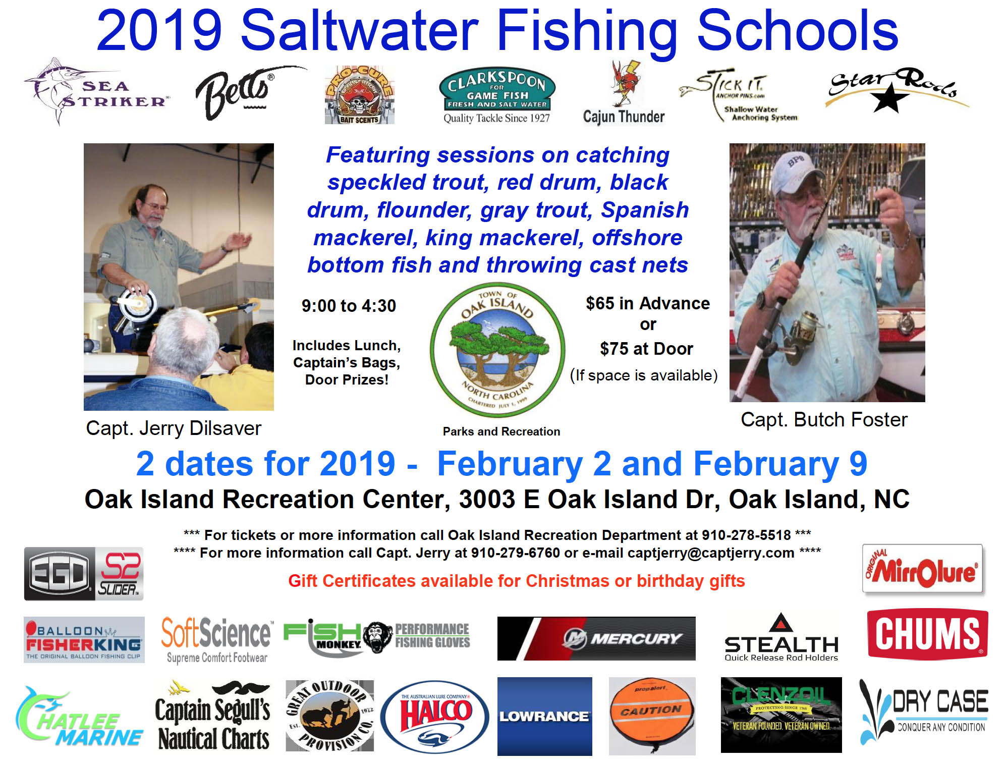 Oak Island Recreation Department Offers Saltwater Fishing School