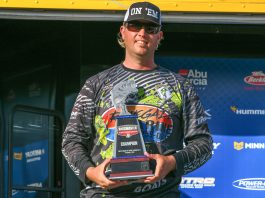 × Matthew Robertson wins the 2018 Bassmaster Team Championship Classic Fish Off on Harris Chain of Lakes, out of Leesburg, Fla., with a two-day total of 57 pounds, 9 ounces. Photo by: Andy Crawford/B.A.S.S.
