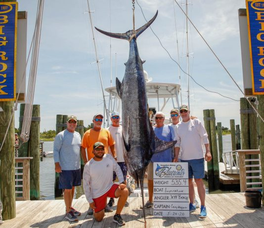 Inspiration Sportfishing Blue Marin Weigh-in - Swansboro Rotary Bluewater