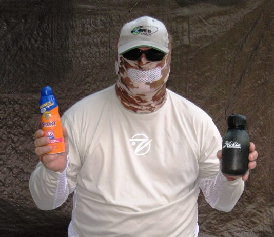 Capt. Jerry Dilsaver - Sun clothing, sunglasses, sunscreen and water 1