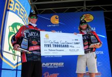 Bassmaster College National Championship presented by Bass Pro Shops with a three-day total of 84 pounds, 12 ounces. Photo by: Photo by Kyle Jessie/B.A.S.S.